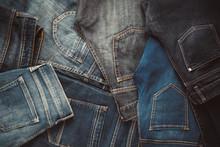 Fashion Different Jeans Backgr...