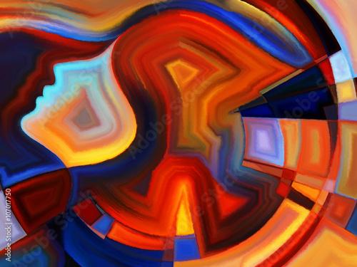 Fotografie, Obraz Metaforický Vnitřní geometrie