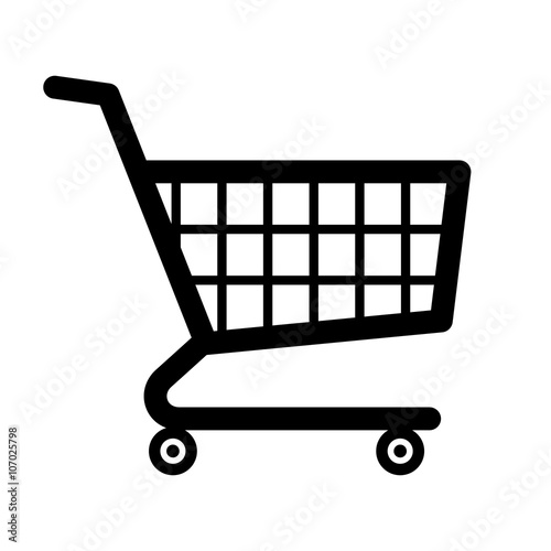 Stampa su Tela Shopping cart icon