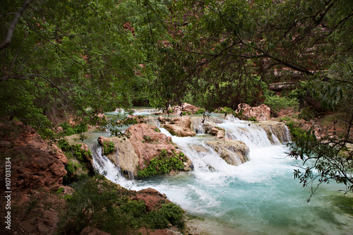 Photo Stands South America Country Havasupai Waterfalls