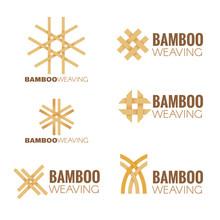 The Bamboo Weaving Logo Vector Set Design