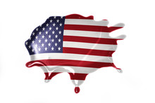 Blot With National Flag Of United States Of America