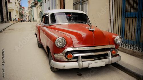 Deurstickers Oude auto s Vintage car in Havana