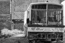 Old Rusted Abandoned Bus Coach