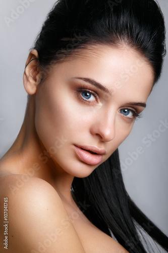 Fotografie, Obraz  Beautiful woman face