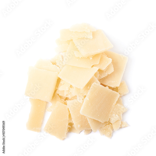 Fotografie, Obraz  Pile of parmesan cheese flakes