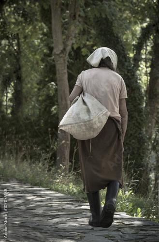 Fotografía  abuela con saco