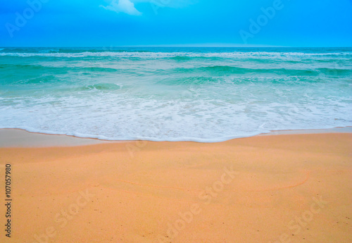 Staande foto Strand Beautiful tropical landscape beach sea and sand for vacation