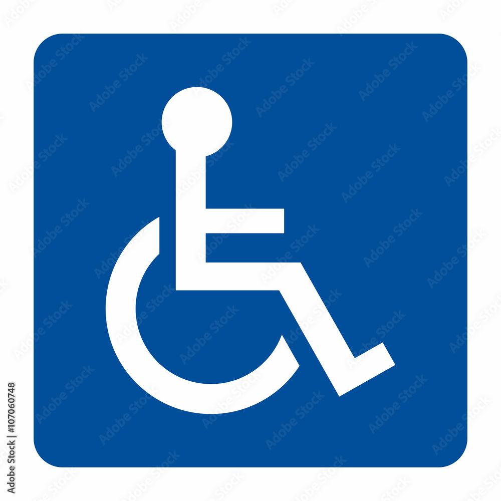 Fototapeta Disabled sign