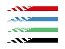 Racing Flag Set Vector