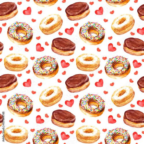 Materiał do szycia Streszczenie szablon z pączki ciasteczka i miłość serca