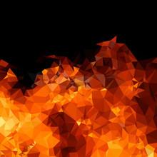 Polygon Geometric Fire Background Easy Editable