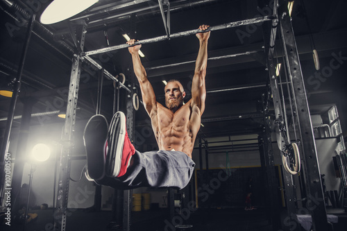 A man doing stomach exercis...