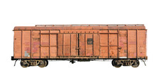 Old Railway Cargo Wagon