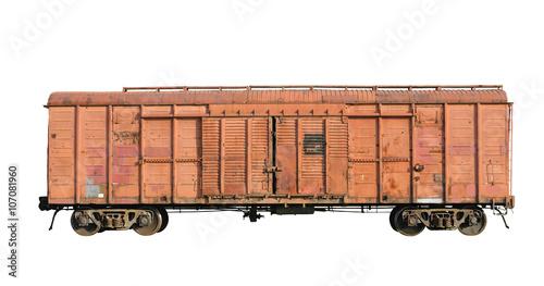 Fotografie, Obraz  Old railway cargo wagon
