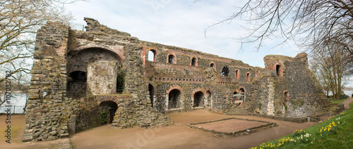 Spoed Foto op Canvas Rudnes Ruine Kaiserpfalz Kaiserswerth Düsseldorf