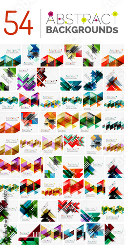 Fototapeta  Collection of various abstract backgrounds, geometric style