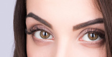 Women's Brown Eye Closeup