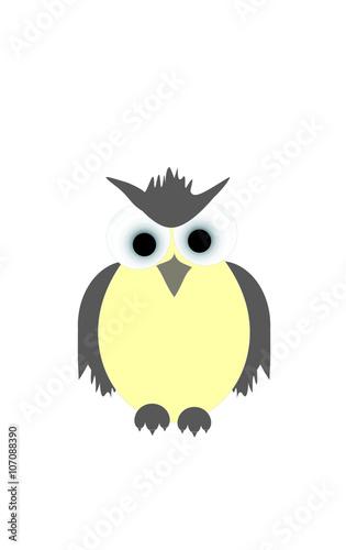 Deurstickers Uilen cartoon OWL EGG - EGG OWL