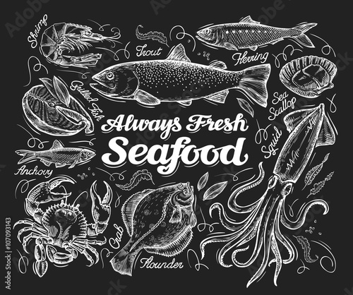 Seafood Wallpaper Mural