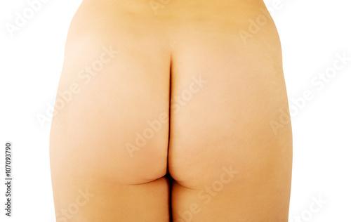 Zdjęcie XXL Naga kobieta tyłek w podłodze