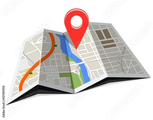 Fotografia  Nawigacja GPS i mapa