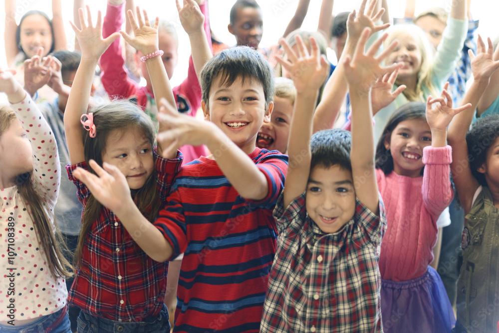 Fototapety, obrazy: Child Companionship Diversity Ethnicity Unity Concept