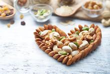 Mixed Nuts Heart Shape