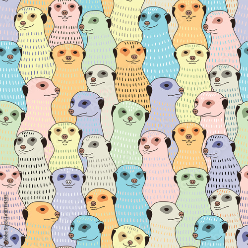 Photo  Meerkats seamless pattern