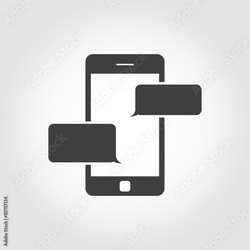 Fotografía  Vector black text messaging icon