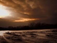 Dieses Bild Ist Am Späten Abend In Deutschland Am Steinbruch Aufgenommen Worden.