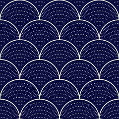 FototapetaJapanese wave seamless pattern, vector illustration