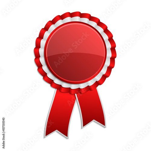 Red award rosette with ribbon Wallpaper Mural