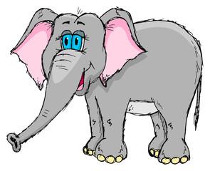 Fototapeta Słoń Cute sketchy elephant