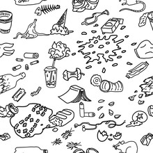 Seamless Pattern With Street G...