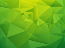 Green Shading Low Poly Geometric Background