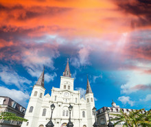 Jackson Square At Dusk, New Or...