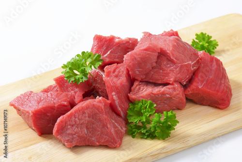 Staande foto Vlees Diced beef