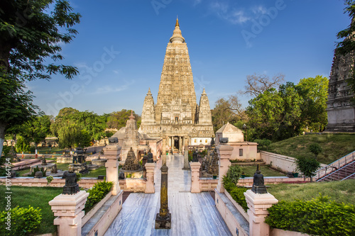 Edifice religieux Mahabodhi temple, bodh gaya, India. The site where Buddha attained enlightenment.