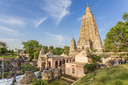 Spoed Foto op Canvas Bedehuis Mahabodhi temple, bodh gaya, India. The site where Buddha attained enlightenment.