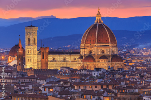 Deurstickers Florence Sunset at Florence, Toscana, Italy
