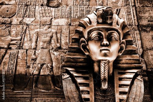 Photo Stands Egypt Stone pharaoh tutankhamen mask