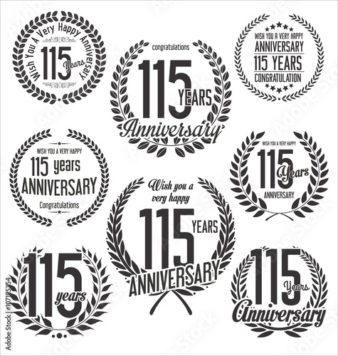 Papel de parede  Laurel Wreath anniversary vector collection 115 years