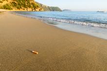 Cigarette Butt Sandy Beach