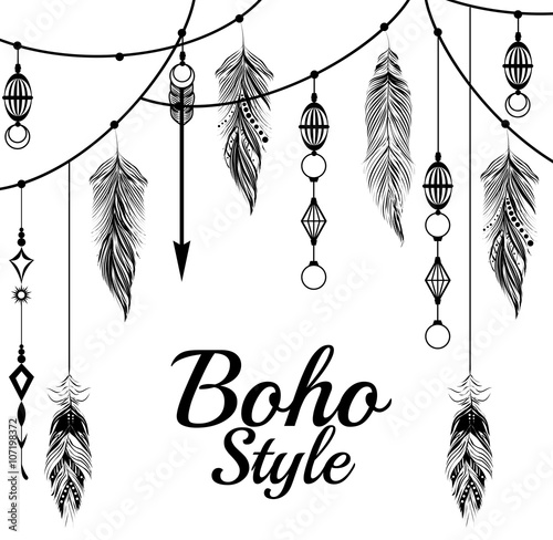 Door stickers Boho Style boho style design