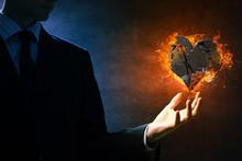 Heart Burning In Fire