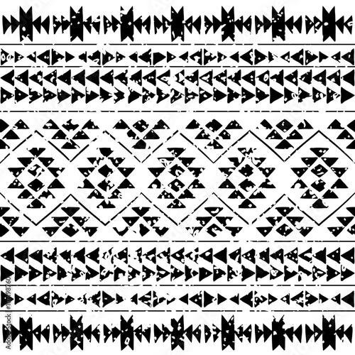 Aluminium Prints Boho Style Seamless aztec pattern