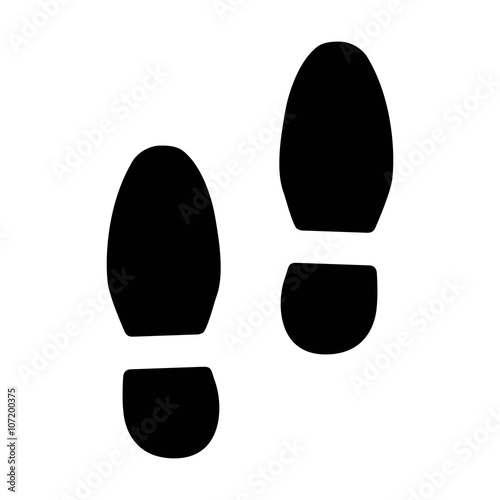Footsteps / foot steps flat icon for fitness apps and websites Wallpaper Mural