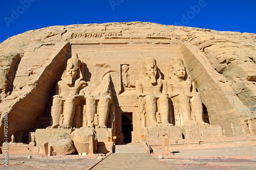 Fotografia, Obraz  Great Temple of Ramesses II in Abu Simbel,Egypt