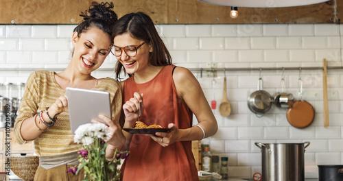 Fotografie, Tablou  Friends Chef Cook Cooking Concept